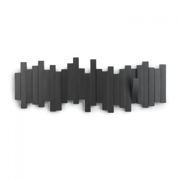 Настенная вешалка Sticks, черная