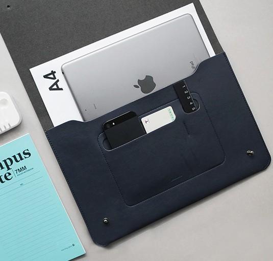 Синий клатч-органайзер для документов My Office