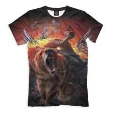 Мужская футболка Print Bar Медведь и танк