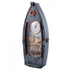 Ключница с часами Рыбацкое судно