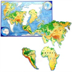 Магнитная карта-пазл «Мир»