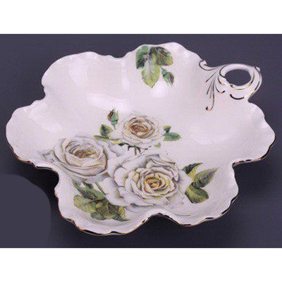 Салатник «Белые розы»