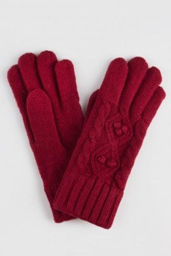Перчатки Катрин, бордо