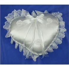 Подушечка для свадебных колец ручной работы