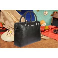 Черная кожаная мужская сумка Mano