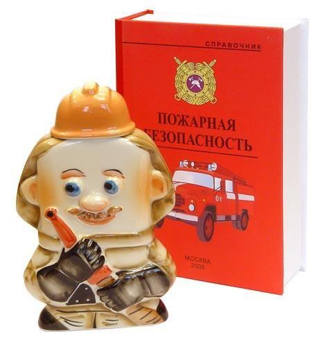 Штоф Пожарный в футляре в виде книги