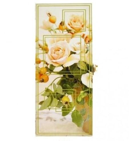 Настенная ключница  Белые розы