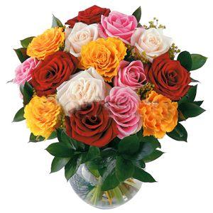 Букет из роз разного цвета
