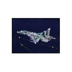 Картина с кристаллами Swarovski Истребитель
