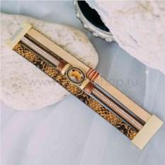 Замшевый браслет «Сафари» с кристаллами