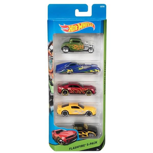 Подарочный набор из 5 машинок Hot Wheels от Mattel