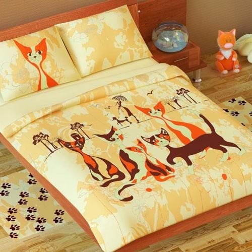 Постельное белье Пушистая компания (1,5-спальное)