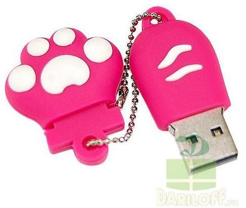 USB флешка 8GB Лапка красная