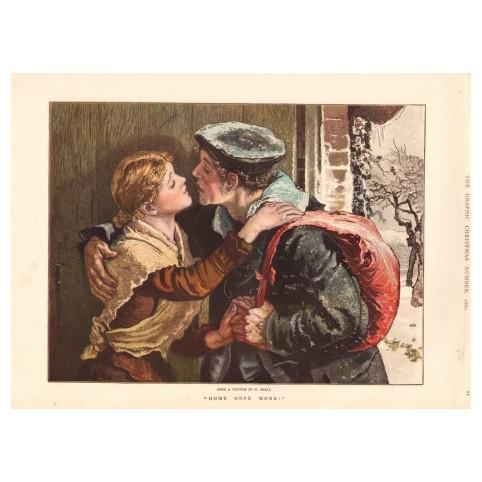 Гравюра «Влюблённые: До скорой встречи!»