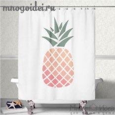 Шторка для ванной комнаты Сочный ананас