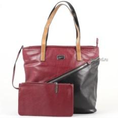 Женская сумка из экокожи Leighton (цвет: бордовый)