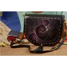 Женская сумка-седло с принтом Темная абстракция