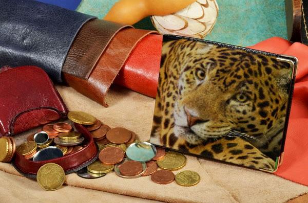 Портмоне с принтом Портрет леопарда