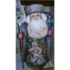 Деревянная игрушка Дед Мороз, высота 45 см