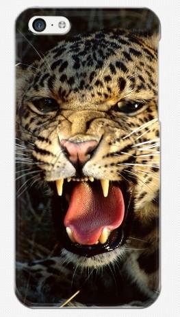 Пластиковый чехол-накладка для iphone 5C, гепард