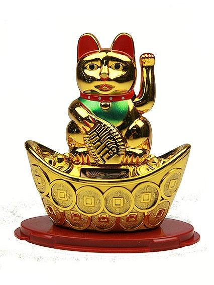 Японский талисман Кот удачи, размер 10х7х11см