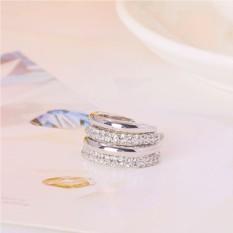 Двойное кольцо «Вместе навсегда» с родиевым покрытием