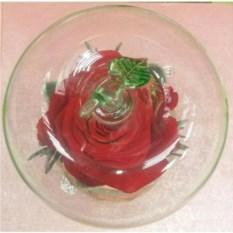 Бутон розы в колбе