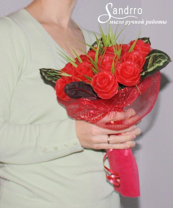 Цветы из мыла «Ароматные розы»