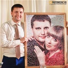 Фотомозаика в подарок мужчине на Новый Год