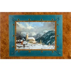 Картина из кожи Зимняя часовня Томас Кинкейд