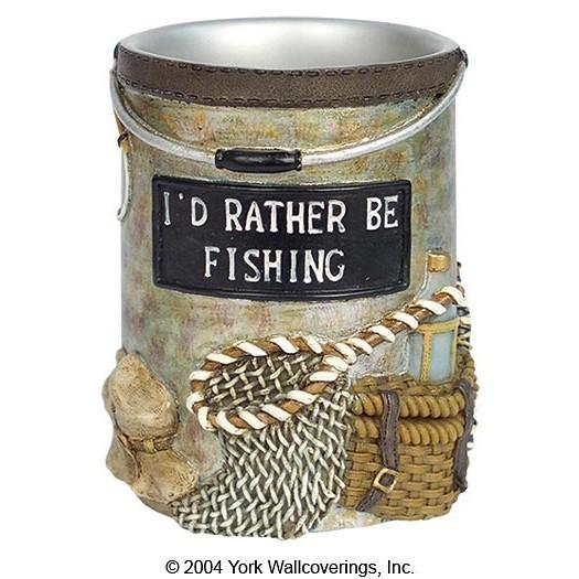 Стакан для зубной пасты Rather Be Fishing