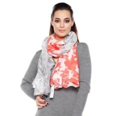 Серо-оранжевый женский шарф Mario Spado