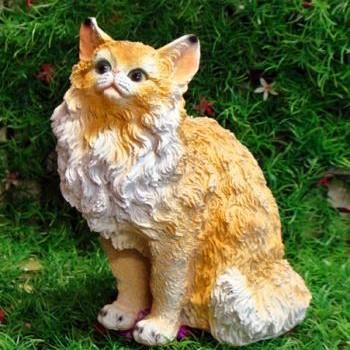 Садовая фигурка Кошка Рыжая Мурка