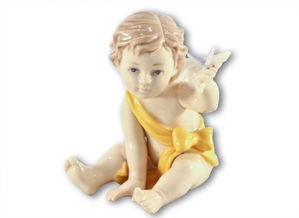 Статуэтка Ангелочек (в жёлтом)