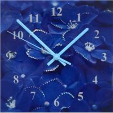 Настенные часы с кристаллами Swarovski Гортензия