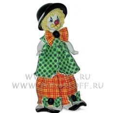 Клоун в зелёно-оранжевом