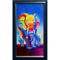 Картина с кристаллами Сваровски Слоны