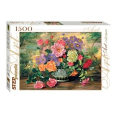 Пазл из 1500 деталей Цветы в вазе