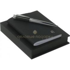 Черный набор записная книжка и шариковая ручка