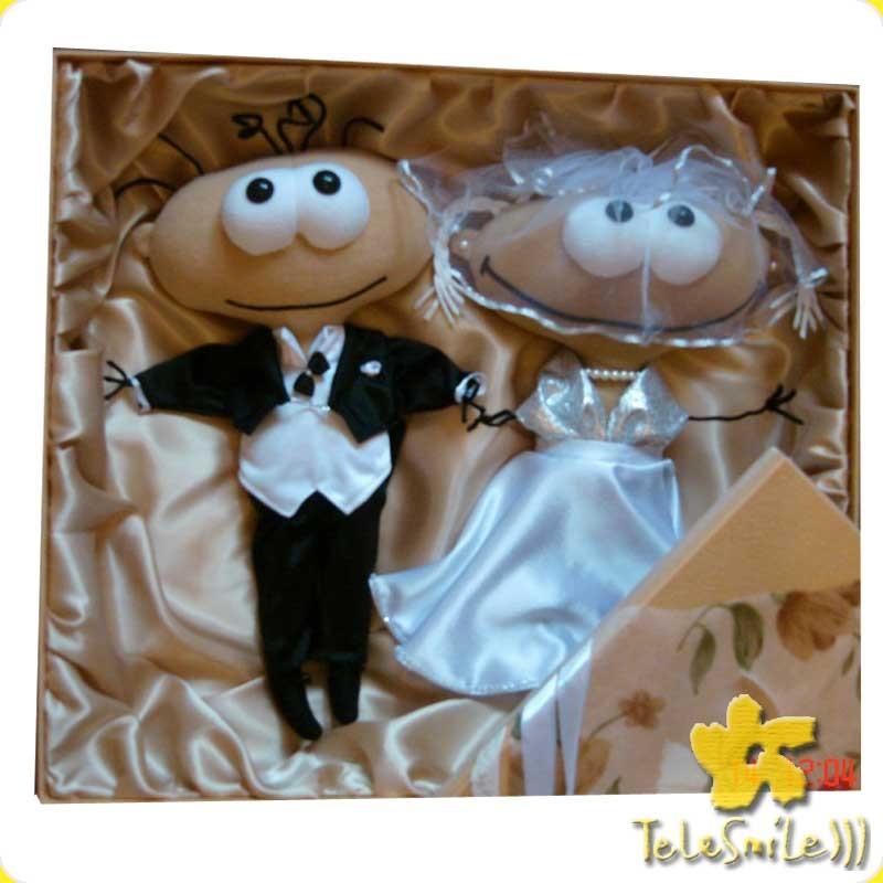 Свадебный подарок Масяня и Хрюндель в красивой коробке
