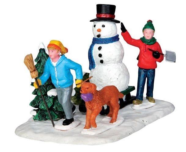 Настольная композиция Мы везём снеговика!