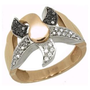Кольцо с 38-ю бриллиантами