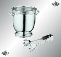 Серебряное ведро для льда Император
