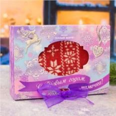 Новогодний шарф Для мамы в подарочной упаковке