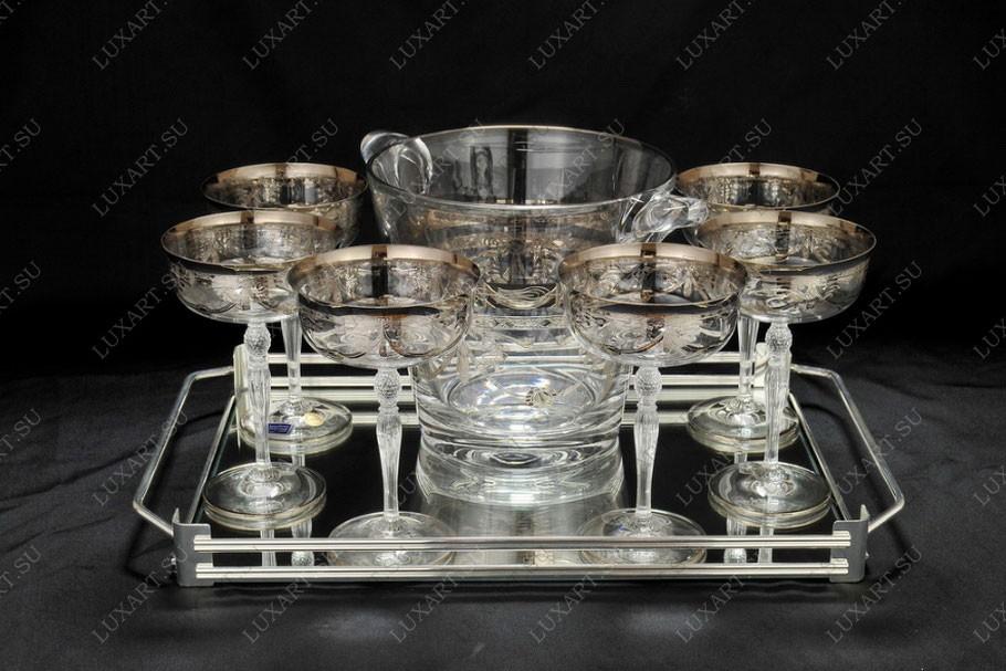 Набор для шампанского из бокалов, подноса и ведра CreArt