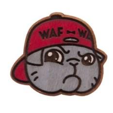 Значок WafWaf Котик в кепке
