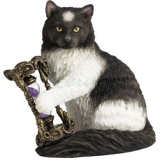 Статуэтка Кот с песочными часами