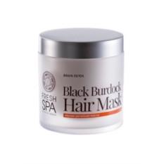 Маска для волос Черная репейная