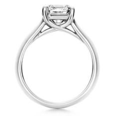 Помолвочное кольцо Люсида из белого золота 0.8 карата