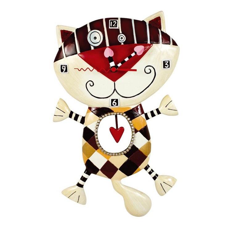 Часы Чеширский котик